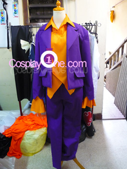 Joker for (Arkham Asylum) DC Comics Cosplay Costume front prog