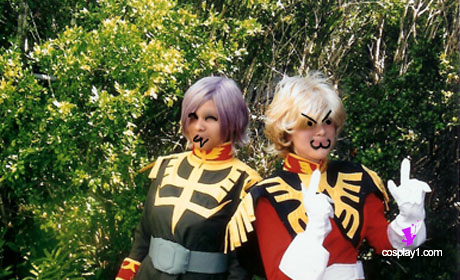 Client Photo Char Aznable and Garma Zabi from Mobile Suit Gundam Cosplay Costume