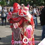 Client Photo Blood Elf Priest and Mage Tier from World of Warcraft Cosplay Costume back
