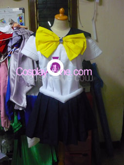 Sailor Uranus from Sailor Moon Cosplay Costume front prog