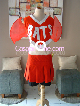 Bats Cheerleader Cosplay Costume front