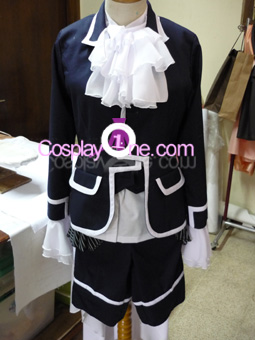 Ciel Phantomhive Black from Black Butler Cosplay Costume front prog