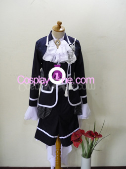 Ciel Phantomhive Black from Black Butler Cosplay Costume front
