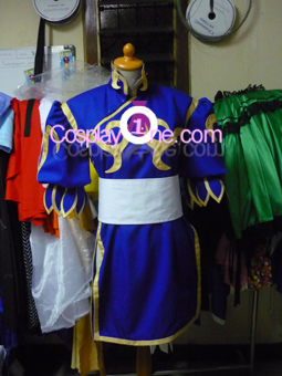 Chun Li from Street Fighter Cosplay Costume side front prog