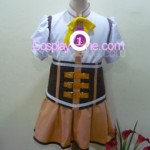 Mami Tomoe from Puella Magi Madoka Magica Cosplay Costume front