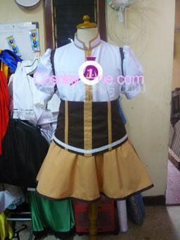 Mami Tomoe from Puella Magi Madoka Magica Cosplay Costume front prog