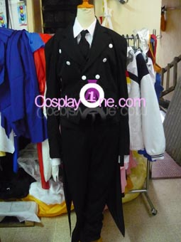 Sebastian Michaelis from Black Butler Cosplay Costume front prog