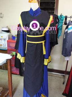Shiki from Black Cat Cosplay Costume front prog