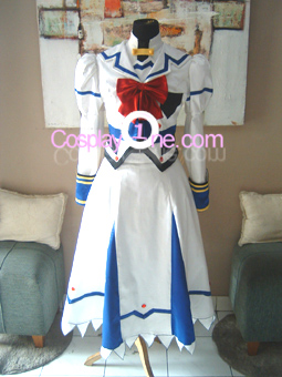 Nanoha Takamachi from Magical Girl Lyrical Nanoha Cosplay Costume front