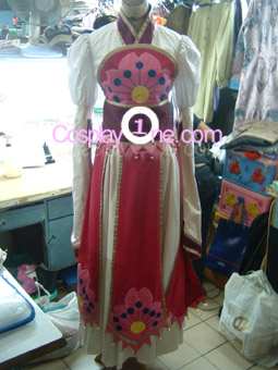 Sakura from Tsubasa Reservoir Chronicle Cosplay Costume front prog