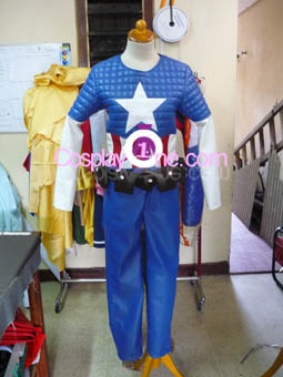 Captain America from Marvel Comics Cosplay Costume front prog3