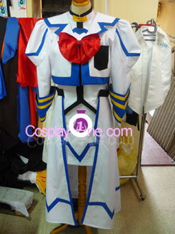 Nanoha Takamachi from Magical Girl Lyrical Nanoha Cosplay Costume front prog