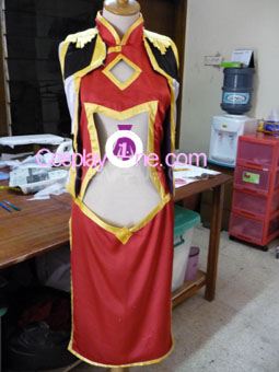 Ranpha Franboise from Galaxy Angel Cosplay Costume front prog