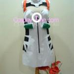 Rei Ayanami from Neon Genesis Evangelion Cosplay Costume front 2 prog