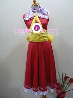 Reimu Hakurei from Touhou Cosplay Costume front