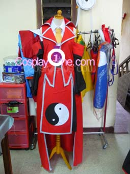 Reimu Hakurei from Touhou Cosplay Costume front prog