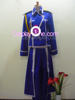 Roy Mustang from Fullmetal Alchemist Cosplay Costume front