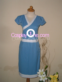 Katara from Avatar Cosplay Costume front