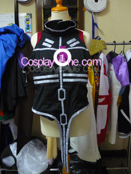 Fate Testarossa from Magical Girl Lyrical Nanoha Cosplay Costume front prog