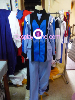Graham Aker from Mobile Suit Gundam Cosplay Costume front prog
