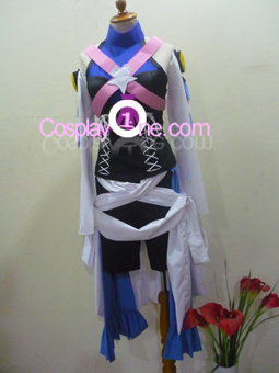 Aqua from Kingdom Hearts Cosplay Costume front