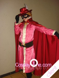 Client Photo 1 Crimson Whirlwind for Anime Cosplay Costume