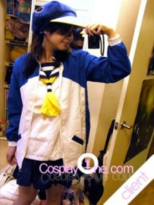 Client Photo Fuuka Akitsuki from Anime Cosplay Costume