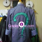 Riddler from DC Comics Cosplay Costume back prog