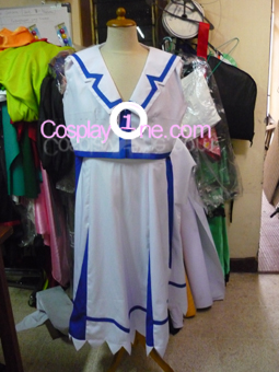 Nanoha from Magical Girl Lyrical Nanoha Cosplay Costume front prog