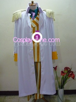 Admiral Kizaru from One Piece Cosplay Costume front