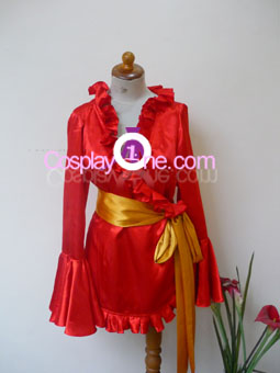 Boa Hancock Impel Down Arc from One Piece Cosplay Costume front in 4