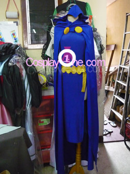 Raven from DC Comics Cosplay Costume front prog