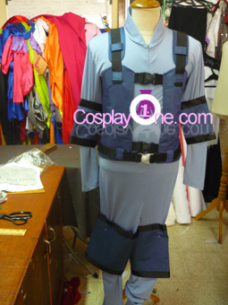 Solid Snake from The Metal Gear Cosplay Costume front1 prog