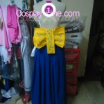 Summoner Yuna from Final Fantasy X Cosplay Costume back prog