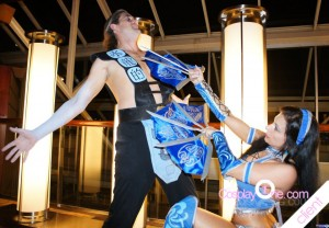 Mortal Kombat Cosplay Kitana and Sub Zero 2