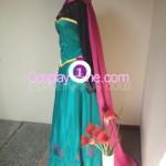 Elsa Coronation Drees side Cosplay Costume