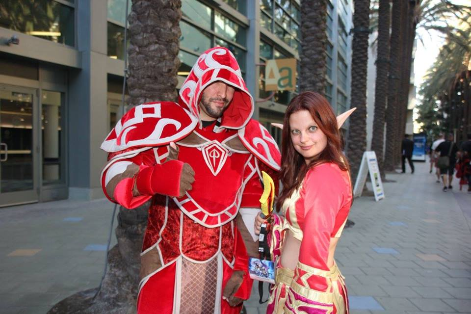 Blood elf Priest and Mage Cosplay Client