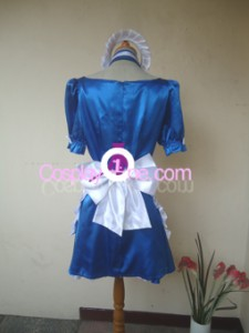 Maid Blue Cosplay Costume back