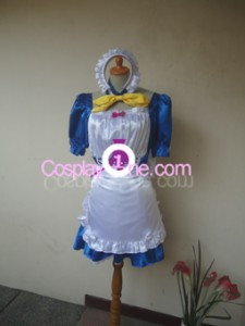 Maid Blue Cosplay Costume front