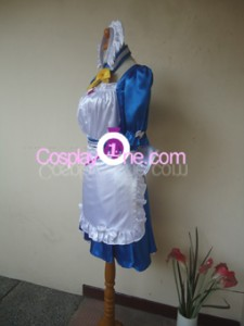 Maid Blue Cosplay Costume side