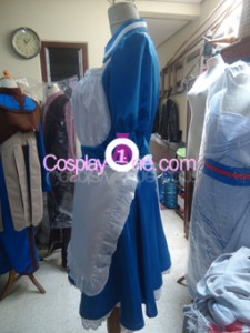 Maid Blue Cosplay Costume side prog