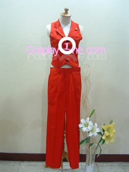 Apollo Justice from Ace Attorney Cosplay Costume front