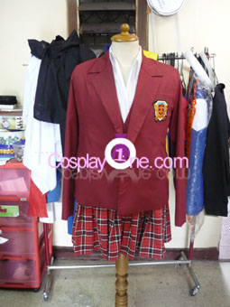 Asuna Kagurazaka from Negima Cosplay Costume front prog
