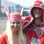 Client Photo Blood Elf Priest and Mage Tier from World of Warcraft Cosplay Costume
