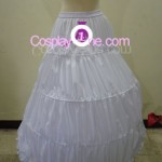 Agito (Wedding Dress version) from Air Gear Cosplay Costume hoop skirt back