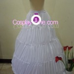 Agito (Wedding Dress version) from Air Gear Cosplay Costume hoop skirt front