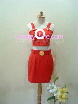 Bulma from Dragon Ball Z Cosplay Costume front