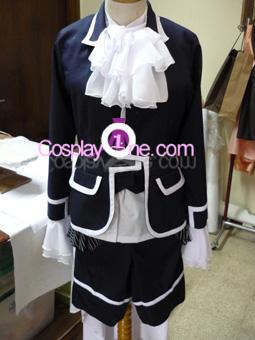 Ciel Phantomhive Black from Black Butler Cosplay Costume front prog