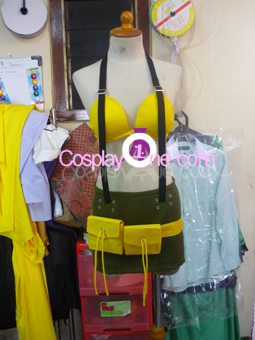 Rikku from Final Fantasy X Cosplay Costume front prog