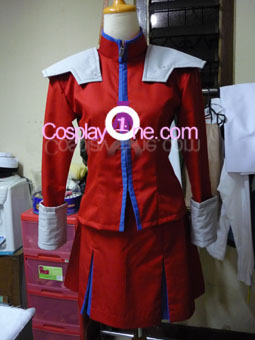 M. Bison (Girl Version) from Street Fighter Cosplay Costume front prog